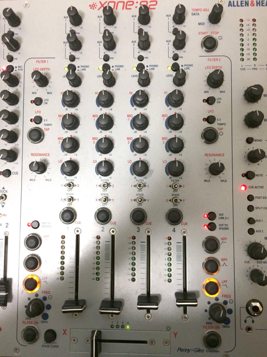 DJミキサーの修理 ALLEN& HEATH XONE:92 その1