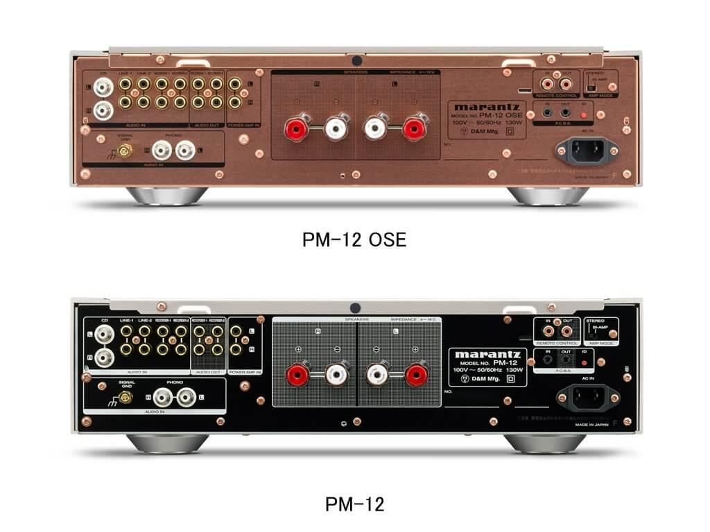 PM 12 OSE rear - MARANTZ(マランツ)プリメインアンプ PM-12 OSE試聴レビュー【30万円台】
