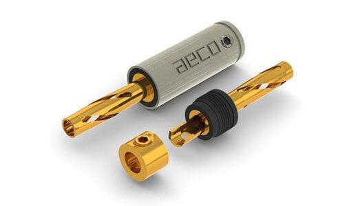 AECO ABP-1111G 純銅24金メッキ バナナプラグ The SPIRAL音質レビュー